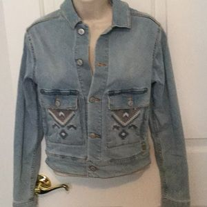 LuLaRoe Harvey acid washed jean jacket XXS